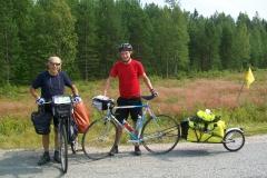 6 70 81° giorno Incontro con Turo, cicloiaggiatore finlandese. 29.7.2012